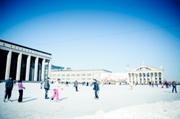 Каток на Октябрьской площади. Минск