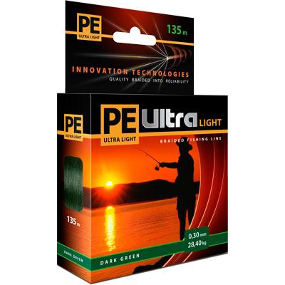 Плетеный шнур PE ULTRA SPIN Dark Green 0,16mm 135m 112823
